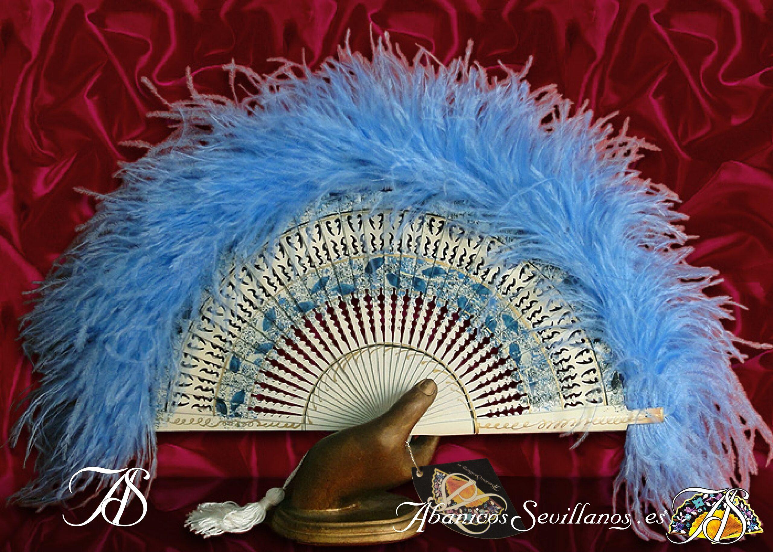 Abanico de plumas de avestruz