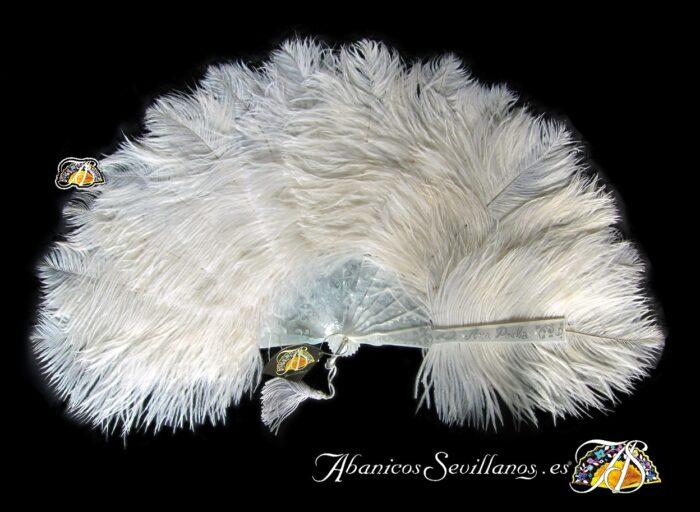 Abanico exclusivo de plumas